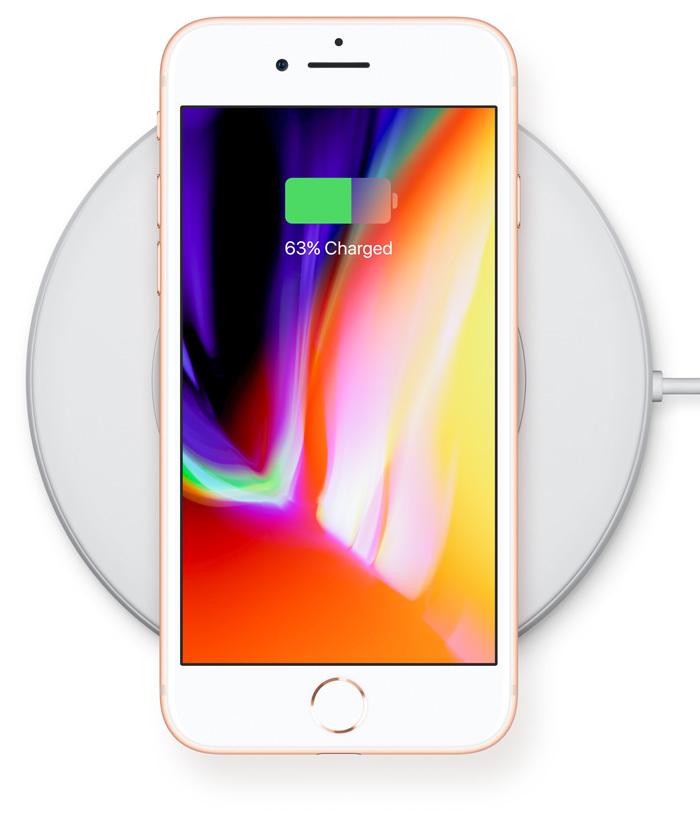 iPhone 8 bezdrátové nabíjení