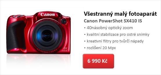 Digitální kompakt Canon PowerShot SX410 IS čeverný černý