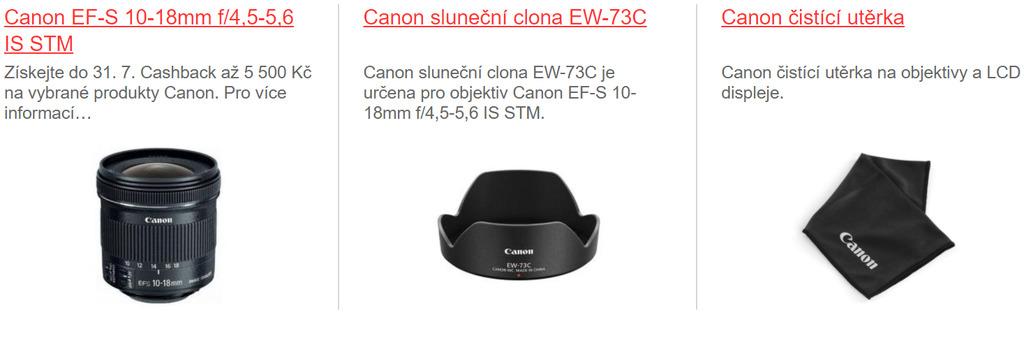 Canon EF-S 10-18mm f/4,5-5,6 IS STM + EW-73C + utěrka