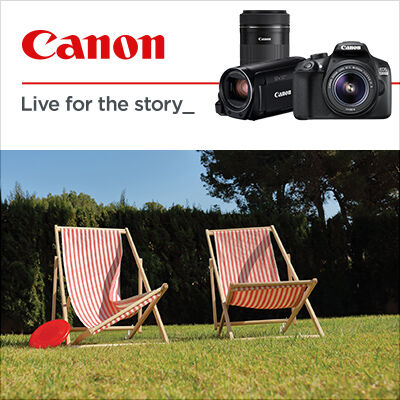 Získejte Cashback až 5 500 Kč nebo hodnotné dárky k vybraným produktům Canon