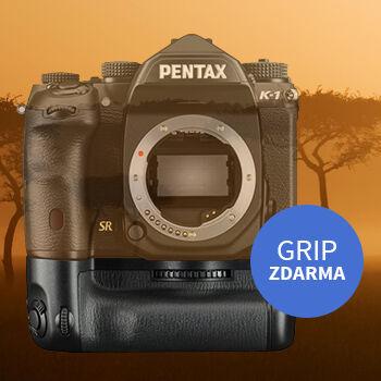 Ke všem sadám Pentax K-1 bateriový grip v hodnotě 7 290 Kč zdarma