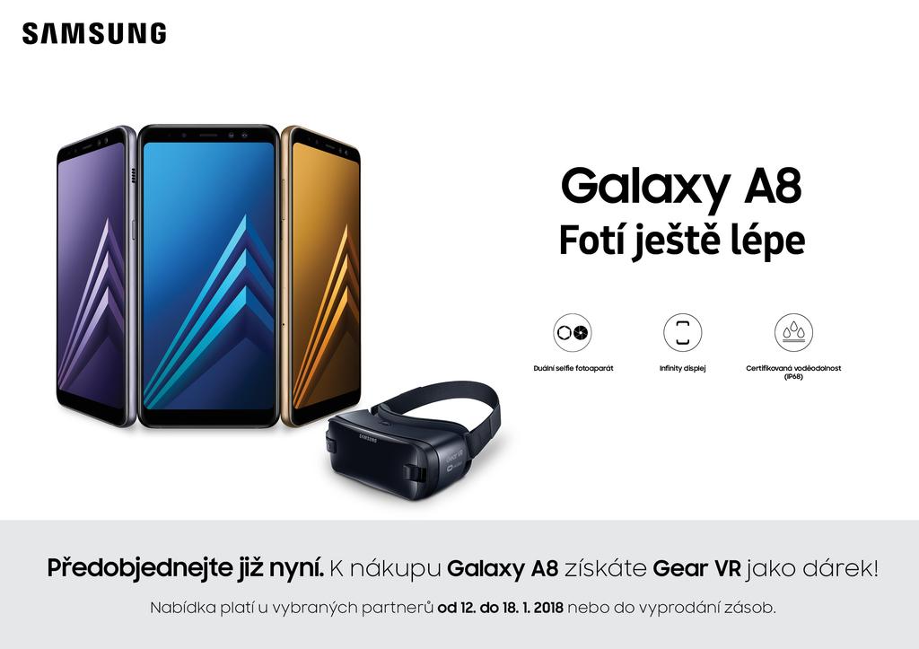 Galaxy A8 + Gear VR zdarma