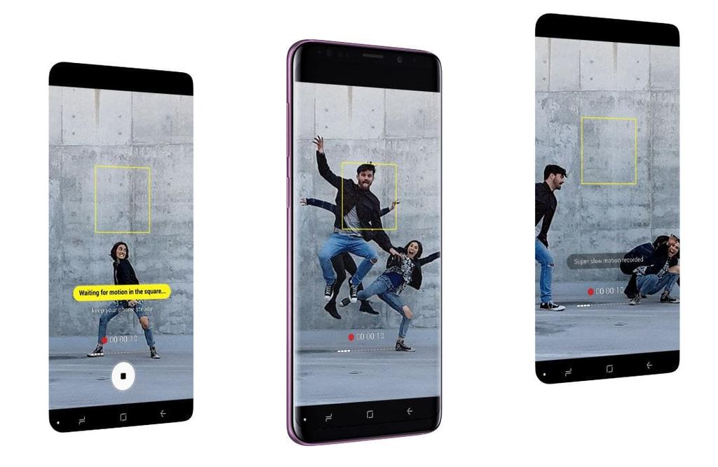 Samsung Galaxy S9 a S9+ super slo-mo