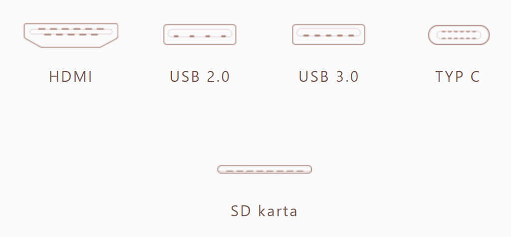 Asus UX410 konektivita