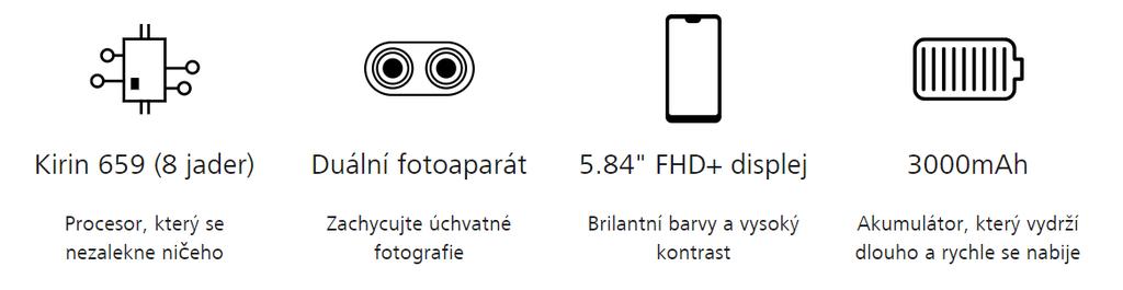 Huawei P20 Lite přednosti