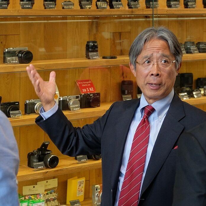 Megapixel poctil svou návštěvou prezident společnosti Fujifilm