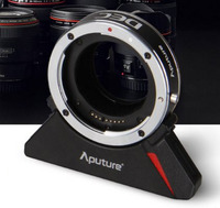 Aputure dálkově ovládaný DEC adaptér pro objektivy Canon a bajonet E-mount