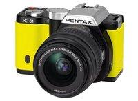 Pentax K-01 žlutý + 18-55 mm + 50-200 mm