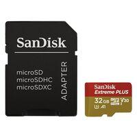 SanDisk Micro SDHC 32GB Extreme PLUS 100MB/s A1 Class 10 UHS-I U3 V30