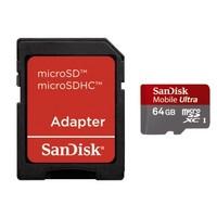 SanDisk Micro SDXC 64GB Ultra 30MB/s Class 10 + Adapter