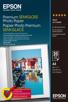 Epson Premium Semigloss Photo Paper A4, 20 listů