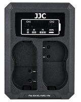 JJC duální USB nabíječka pro akumulátor 2× Nikon EN-EL15(a/b)