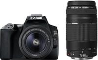 Canon EOS 250D + 18-55 mm DC III + 75-300 mm DC III černý
