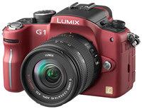 Panasonic Lumix DMC-G1 červený + G Vario 14-45 mm