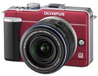 Olympus E-PL1 červený + 14-42 mm