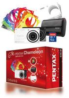 Pentax Optio RS1000 bílý + Sandisk SD 4GB karta + kožené pouzdro
