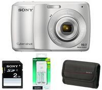 Sony CyberShot DSC-S3000 stříbrný + nabíječka + baterie + 2GB karta + pouzdro zdarma!