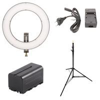 Fomei LED RING SMD 23W + nabíječka + baterie + stojan!