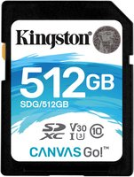 Kingston SDXC 512GB Canvas Go Class 10 UHS-I U3 V30