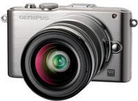 Olympus E-PL3 + 12-50 mm stříbrný + 40-150 mm R stříbrný