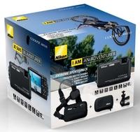 Nikon Coolpix AW110 černý + držák na kolo + úchyt na hrud + odolné pouzdro!