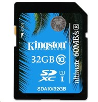 Kingston SDHC 32GB Ultimate Memory Class 10 UHS-I