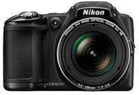Nikon CoolPix L830 černý + 8GB karta + brašna BIIN + adaptér na filtr + PL filtr 62mm!