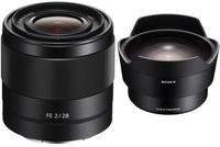 Sony FE 28mm f/2,0 + konvertor rybí oko SEL057FEC