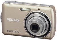 Pentax Optio E70 stříbrný