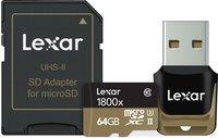 Lexar Micro SD (SDXC 1800x) 64GB karta + adaptér SD