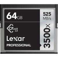 Lexar 64GB CF Professional 3500x CFast 2.0 525MB/s