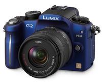 Panasonic Lumix DMC-G2 modrý + 14-42 mm