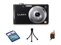 Panasonic Lumix DMC-FS16 černý + SD 2GB karta + pouzdro  DF11 + ministativ!