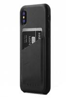 Mujjo kožené peněženkové pouzdro (celotělové) pro iPhone XS/X modré
