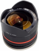 Samyang 8mm f/2,8 UMC rybí oko pro Samsung NX