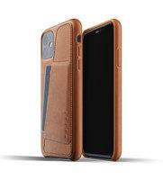 Mujjo kožené peněženkové pouzdro pro iPhone 11