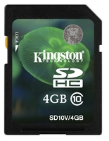 Kingston SDHC 4GB Class 10