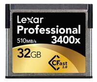 Lexar 32GB CF Professional 3400x CFast 2.0 510MB/s