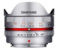 Samyang 7,5mm f/3,5 pro micro 4/3 stříbrný