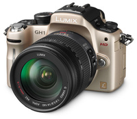 Panasonic Lumix DMC-GH1 zlatý + G VARIO HD 14-140 mm