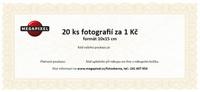 Slevový poukaz na Fotografie 10x15cm - 20 ks za 1 Kč - elektronický