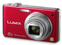 Panasonic Lumix DMC-FS33 červený