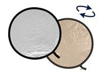 Lastolite odrazná deska kulatá 30cm sluneční svit/stříbrná