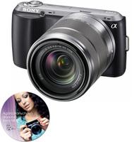 Sony NEX-C3 černý + 18-55 mm + 16 mm