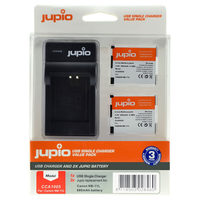 Jupio Kit 2x NB-11L + USB Single Charger pro Canon