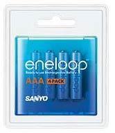 Sanyo Eneloop AAA baterie 750 mAh 4 ks