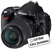 Nikon D40 černý + AF-S 18-55 mm f/3,5-5,6G ED II + dalekohled 10x50 ACTION VII!