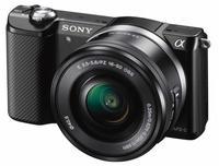 Sony Alpha A5000 + 16-50 mm černý + 16GB Class 10 + brašna + autom. krytka +  protector LCD!