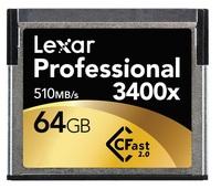 Lexar 64GB CF Professional 3400x CFast 2.0 510MB/s
