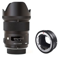 Sigma 35mm f/1,4 DG HSM Art pro Canon + Mount konvertor pro Sony E